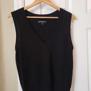 Express Black Wool Blend V-Neck Vest Ladies Large